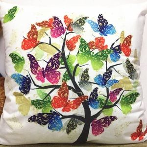 Pillow Cover- NEW- Tree of Butterflies